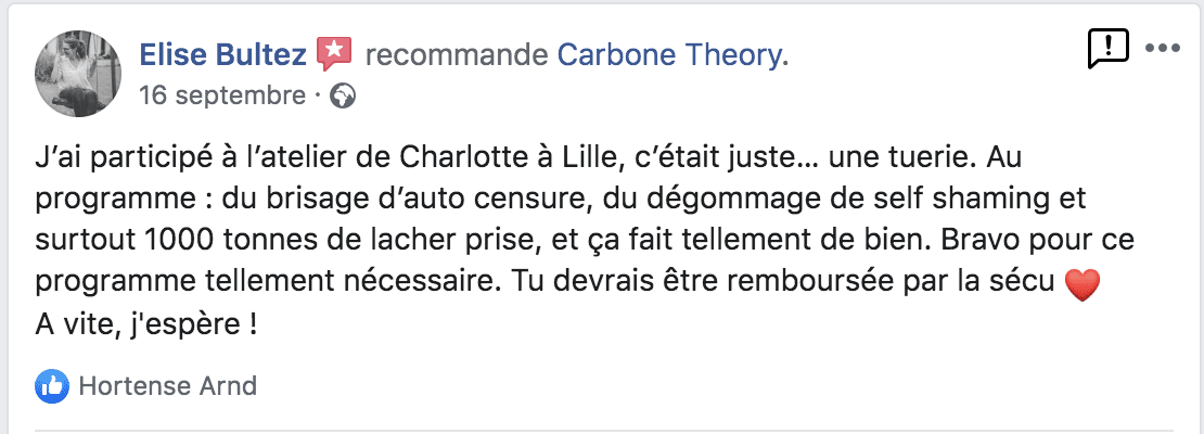 Avis RNB Therapy - Carbone Theory, coaching confiance en soi